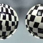 Grands bols damier ''Noir & Blanc''